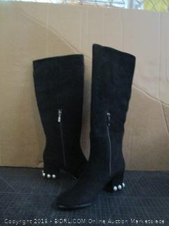 The fix Juliette Pearl Studded Heel Knee Boots Size 8.5 B (M)