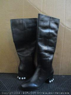 The Fix Black Leather Boots 6M