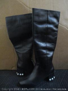 The fix Juliette Pearl Studded Heel Knee Boots Size 6.5 B (M)