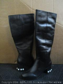 The fix Juliette Pearl Studded Heel Knee Boots Size 6.5  (M)