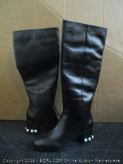 The fix Juliette Pearl Studded Heel Knee Boots Size 7 (M)