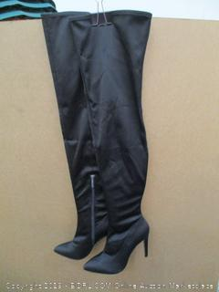 The Fix Mia Pointed Toe Thigh High Sock Boots  7.5 B (M)