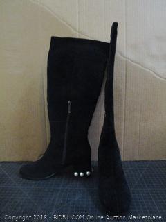 The fix Juliette Pearl Studded Heel Knee Boots Size 7 B (M)