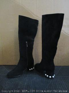 The fix Juliette Pearl Studded Heel Knee Boots Size 7.5 B (M)