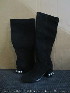 The fix Juliette Pearl Studded Heel Knee Boots Size 8 B (M)