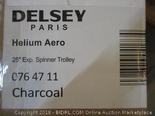 """Delsey Helium Aero 25"""" Exp, Spinner Trolley Charcoal Luggage"""