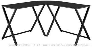 X-Treme Glass & Metal L-Shaped Computer Desk