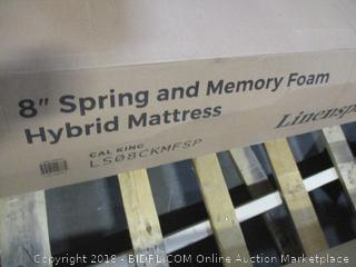 "Linenspa 8"" Spring and Memory Foam Hybrid Mattress, Cal King"