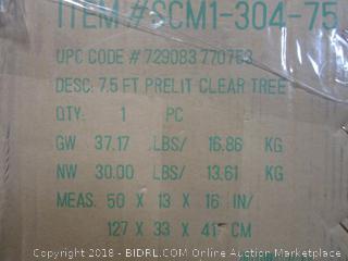 7.5 Ft Prelit Clear Tree