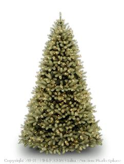 """National Tree 7.5 Foot """"Feel Real"""" Downswept Douglas Fir Tree with 750 Dual Color LED Lights and On/Off Switch, Hinged (PEDD1-312LD-75X) (Retail $369.00)"""