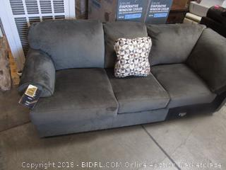 Gray Fabric Sectional Couch Piece
