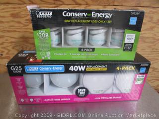 G25 Globe & 60W/13W Light Bulbs