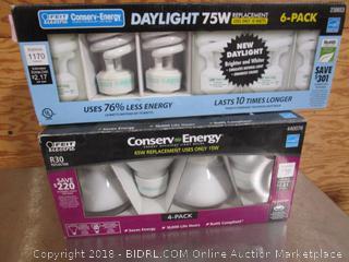 R30 & Daylight 75W Light Bulbs