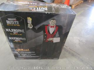 Animated Butler Halloween Decoration