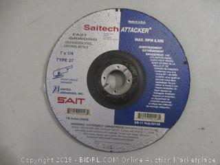 Saitech Attacker Fast Grinding on Stainless Steel, Castings and Metal