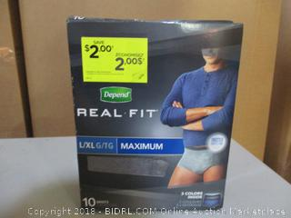 Depend Real-Fit Maximum Size L/XL