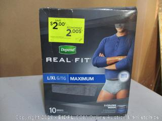 Depend Fit-Flex Underwear for Women Size L