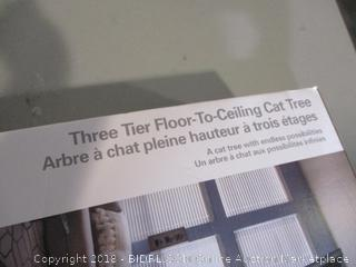 Three Tier Floor-To-Ceiling Cat Tree