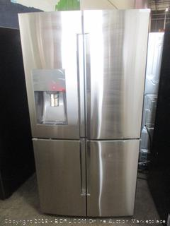 Samsung Refrigerator Powers on, Dented, Triple & Metal Cooling ,See Pictures