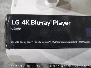 LG 4K Blu-ray Player  Powers On