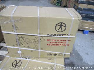 Marcy Recumbent Exercise Bike with Resistance ME-709 (Retail $139.00)
