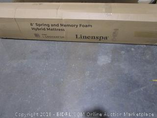 "Linenspa 8"" Spring and memory foam Hybrid Mattress King"