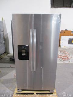Whirlpool  Refrigerator Powers On, Dented,Scratched See Pictures