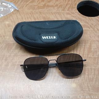 Weluk Sunglasses Men's Pilot Aviator
