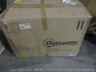 Outsunny Steel Rattan Leisure Set  See Pictures