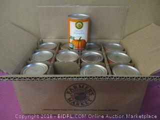 Farmers Market Organic Pumpkin Puree Factory Sealed Box Lot