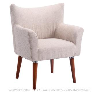 Dining Chair and Leisure Chair with Arm (beige) / box condition may vary See Pictures