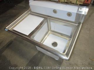 John Boos 18GA 1 Comp Sink 18x18x12D Damaged See Pictures