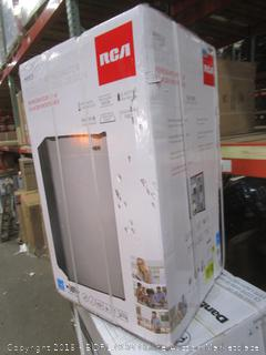 RCA 3.2 Cu.Ft Refrigerator Stainless Steel Design Damage See Pictures