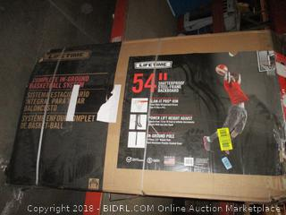 "Lifetime 54"" Shatterproof Steel Frame Backboard  See Pictures"