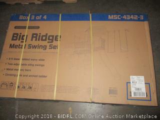 Big Ridge Metal Swing Set  Incomplete Set