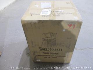 World Market  Donnan Wishbone Faux Flokati Chair