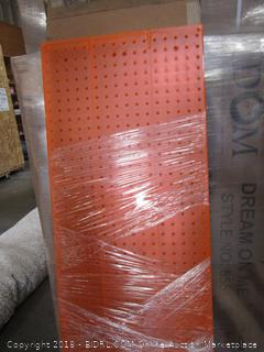 60x16 Retail Peg Board Wall Panel Model #771660-ORG