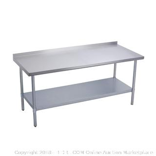 Elkay Professional NSF Stainless Steel Food Service Table EWT24S72-STG-2X 72""