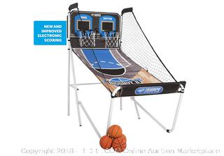 Triumph Big Shot II Double Shootout Basketball Game w/ LED Electronic Scorer & Time Clock for 8 Different Games