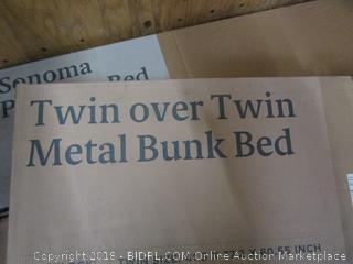 Quicklock Twin over Twin Metal Bunk Bed