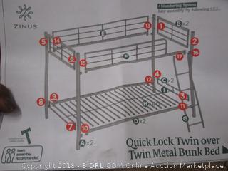 Zinus Quick Lock Twin Metal Bunk Bed