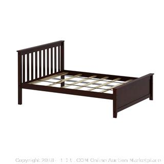 Max & Lily Solid Wood Full-Size Bed Frame Espresso (retail $289)