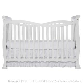 Dream On Me 7-in-1 Convertible Life Style Crib #655 White (no mattress, just crib)