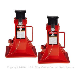 Sunex 1522 22-Ton Pair of Jack Stands (retail $159)