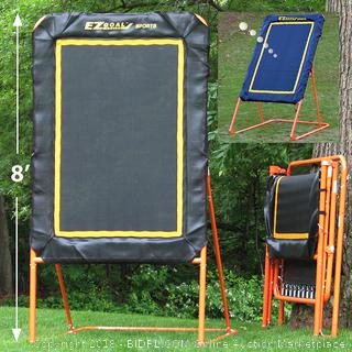 EZ Goal Professional Folding 8' Lacrosse Throwback Rebounder (retail $146)