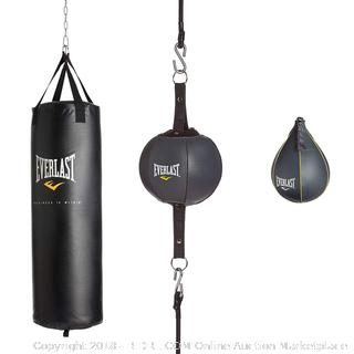 Everlast 100lb 3-Piece Heavy Punching Bag Kit (retail $129)