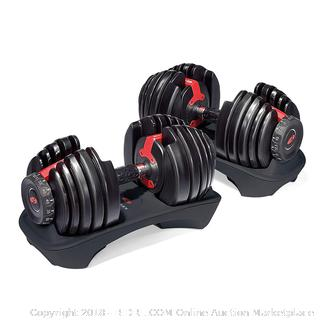Bowflex SelectTech 552 Pair of Adjustable Dumbbells (retail $299)