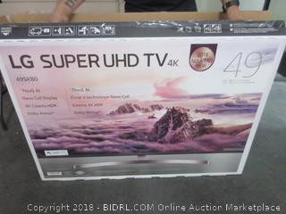 "LG Super UHD TV 49"" - Sealed - Opened for Picturing"