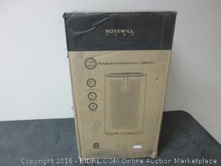 Rosewill Portable Air Conditioner 12000 BTU AC Fan Dehumidifier & Heater, 4-in-1 Cool/Fan/Dry/Heat w/Remote Control, Quiet Energy Efficient Self Evaporation Unit for Single Room Use, RHPA-18003 (Retail $409.00)