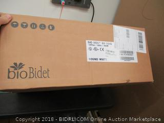 BioBidetSupreme BB-1000 Round White Bidet Toilet Seat Adjustable Warm Water, Self Cleaning, Wireless Remote Control, Posterior and Feminine Wash, Electric Bidet (Retail: $400.00)